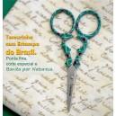 """Tesoura """"FLAG"""" Brasil (00879)"""