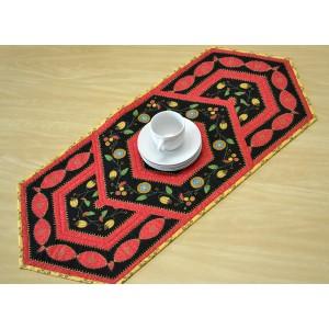 Caminho de mesa Caleidoscópio (vermelho)