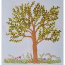 Árvore costurada e seu canteiro florido (27 e 28/01)