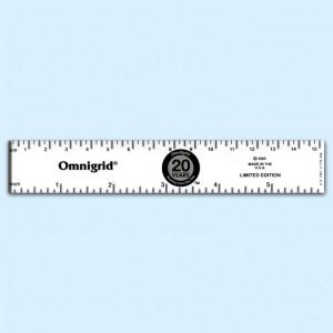 Régua Omnigrid centímetros e polegadas