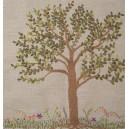 Árvore em couching e Canteiro de Flores